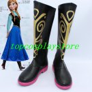 Frozen Princess Anna Cosplay Shoes Boots high heel ver two #15YJZ86