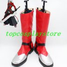 BlazBlue Ragna the Bloodedge Grim Reaper Cosplay Boots shoes red #BZBC01