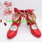 Puella Magi Madoka Magica Kaname Madoka Cosplay Shoes boots red Ver high heel #PM032