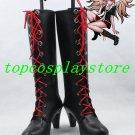 Danganronpa Dangan Ronpa Junko Enoshima Cosplay Shoes Boots Custom Made #DR003