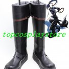 D Gray-Man Yu Kanda Black Long Cosplay Boots shoes D Gray-man D Gray man