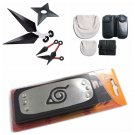 Cosplay Naruto shippuden Headband shuriken Kunai Knives Bag Tools weapons set