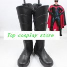 Robin from Batman black pu ver cos Cosplay Shoes Boots shoe boot  #NS017