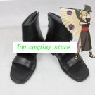 Naruto Temari black pu leather ver cos Cosplay Shoes Boots shoe boot  #NS018