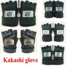 Naruto Kakashi Hatake Gloves Ninja half finger leather glove Anime Cosplay Gift