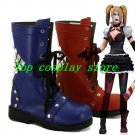 Batman Arkham Knight Game Harley Quinn Cosplay Shoes Boots red blue shoe boot