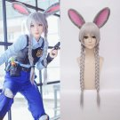 Zootopia Judy Hopps Anime Cosplay Wig with cute Rabbit ear