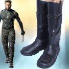 x-men Logan Wolverine James Logan  Howlett cosplay Shoes Boots black ver