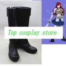 Fairy Tail Erza Scarlet black ver cos Cosplay Shoes Boots shoe boot  #JZ570