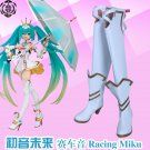 Vocaloid  Racing MIKU Cosplay Boots shoes shoe boot