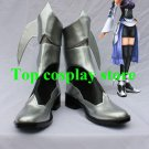 Kingdom Hearts Birth by Sleep Aqua Cosplay Shoes boots silver/black #KH001