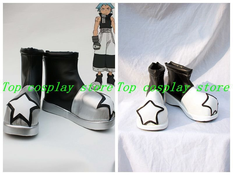 Soul Eater Black Star Cosplay Shoes boots #SE005 shoe boot