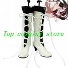 Pandora Hearts Alice Baskerville White and Black Cosplay Boots shoes #PH007 shoe