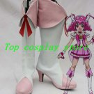 Smile Pretty Cure Hoshizora Miyuki/Cure Happy Cosplay Boots shoes pink/white #P9