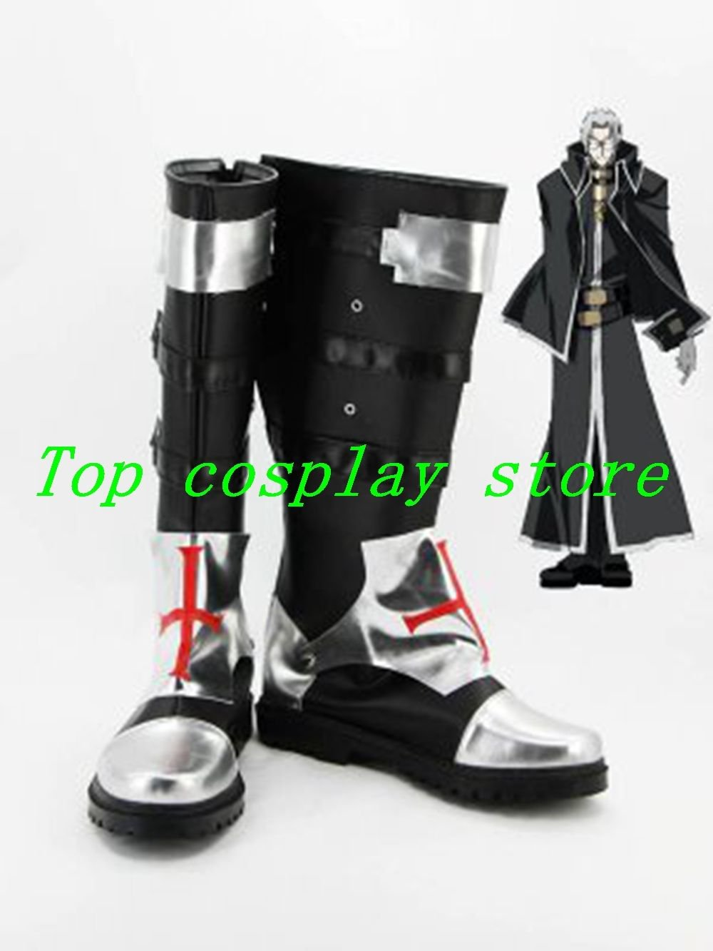 Trinity Blood Abel Nightroad cosplay Shoes Boots Custom-Made #TRB03 shoe boot