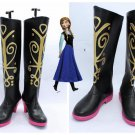 Frozen  Princess Anna Cosplay Shoes Boots high heel ver one shoe boot