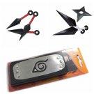 Cosplay Naruto shuriken Kunai Knives Tools weapons Headband Leaf Village gift