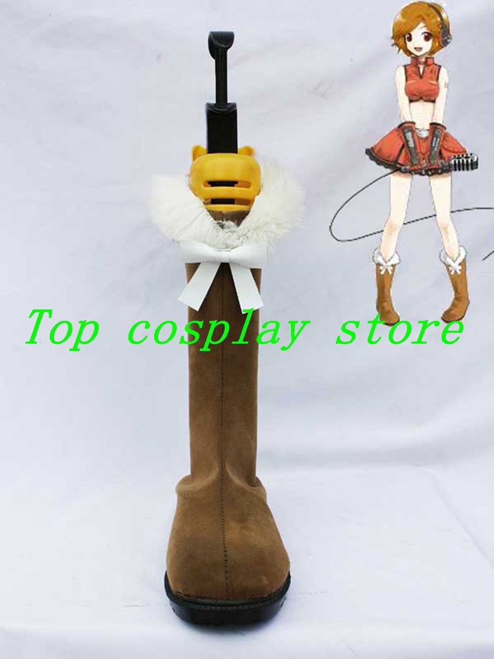 Vocaloid Meiko Brown Cosplay Short Boots shoes #VOC069 shoe boot