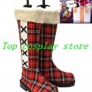 Black Butler Kuroshitsuji Ciel Viscount Cloth Cosplay Shoes boots Christmas ver