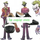 Batman Joker white black Cosplay Boots shoes shoe boot  #NC942