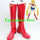 Sailor Moon Cosplay Shoes boots red ver 2 pu leather shoe boot