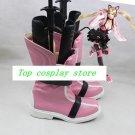 Street Fighter X Tekken Lucy Lucky cat LILI Neko Bible Cosplay Boots Shoes shoe