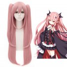 Seraph of the End Vampire Krul Tepes 80cm Pink Anime Cosplay Wig