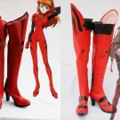 EVA Neon Genesis Evangelion Cosplay  Soryu Asuka Langley Red Cosplay Boots shoes