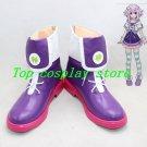 Hyperdimension Neptunia Planeptune Purple Heart Neptune Cosplay Boots shoes v2