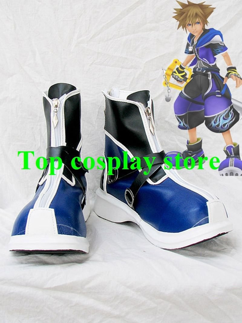 Kingdom Hearts II Sora Wisdom Form Blue Version Cosplay Boots shoes #KH020