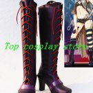 Vocaloid Type-H Purple PU Leather Rin Cosplay Boots shoes #VOC030 shoe boot