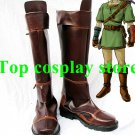 The Legend of Zelda link Cosplay Boots shoes shoe boot PU leather ver #LZ03