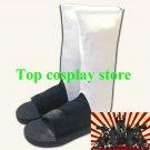 Naruto Cosplay Boots White Akatsuki Shippuuden Shoes boots #NAR007 shoe boot