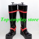 D.Gray-man Kanda You Yu Kanda red black cosplay Shoes Boots shoe boot