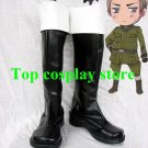 Axis Powers Hetalia Germany/Ludwig Cosplay Boots shoes black #APH028