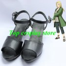 Naruto Tsunade Ninja Village Black Cosplay Shoes Boots Shoes shoe hand made