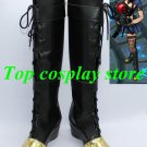 League of Legends LOL Sheriff of Piltover Caitlyn Cosplay Shoes boots black gold