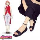 Boruto: Naruto the Movie Haruno Sakura Cheongsam Anime Cosplay shoes boot black