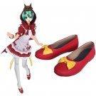 Vocaloid  Hatsune Miku Gothic Lolita cute red with yellow bow Cosplay Boots shoe