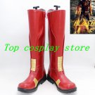 The Flash Shoes Superhero Barry Red PU Flash Cosplay Boots Adults Custom Made