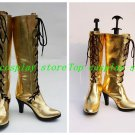 Vocaloid Diva Megurine Luka Gold High Heel Cosplay Boots shoes #VOC048 shoe boot