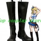 Fairy Tail Lucy Cosplay Shoes Boots Custom Made shoe boot black 4