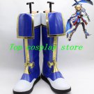 BLAZBLUE Noel Vermillion bule white gold Cosplay Boots shoes shoe boot #NC394