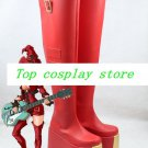 GuiltyGear Guilty Gear INO red high heel cosplay shoes boots shoe boot  #YY002