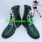 Sailor Moon Kino Makoto / Sailor Jupiter Green Cosplay Boots shoe boot shoes