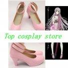NEKO from K Cosplay Boots shoes shoe boot pink high heel cute lolita  #cos0134