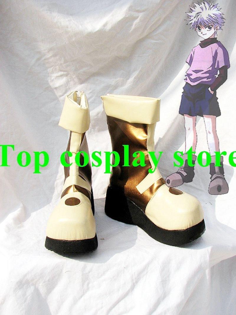 Hunter X Hunter Killua Zaoldyeck Cosplay Boots shoes Version A #HXH009 shoe boot