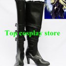 Chobits Cosplay Freya Black PU Leather Cosplay Boots shoes  boot shoe