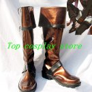 D.Gray-man Lavi Rabi III Brown black Cosplay Boots shoes #DGC016 shoe boot