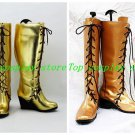 Vocaloid Diva Megurine Luka Light Gold Wedge Cosplay Boots shoes Version A #VO47